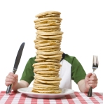 Tawdra, can you please make me a pile of pancakes this big? Note: pancakes in photo are not actual amazing ones listed below. Photo: Big Stock Photo